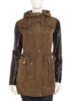 Betsey Johnson Weather-Resistant Anorak Jacket, Cargo
