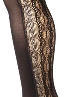 Betsey Johnson Women's 2 Pair Pack Lace Net Tight