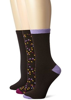 Betsey Johnson Women's Confetti Crew Socks 3-pack