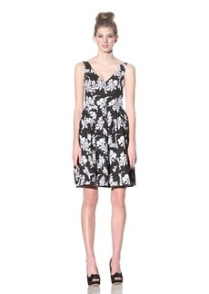Betsey Johnson Women's Embroidered Floral Dress, Black, 2
