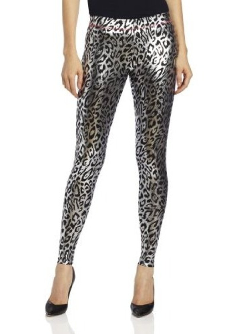Betsey Johnson Women's Liquid Leopard Metallic Legging