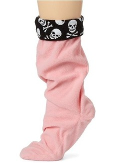 Betsey Johnson Women's Skull Print Calf Length Boot Liner