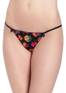 Betsey Johnson Women's Slinky Knit Thong Panty