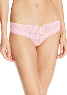 Betsey Johnson Women's Stocking Stripe Thong Panty