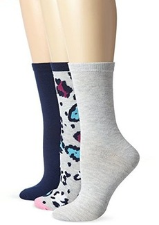 Betsey Johnson Women's Three-Pack Party Animal Crew Socks