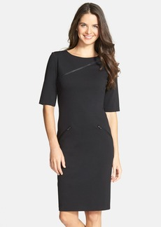 Betsey Johnson Zip Detail Ponte Midi Dress