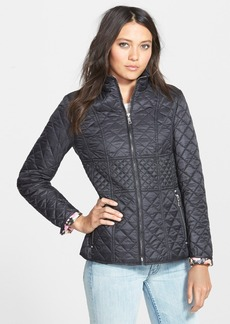 Betsey Johnson Zip Front Mix Quilt Jacket