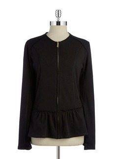 BETSEY JOHNSON Zip Front Peplum Jacket