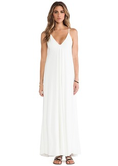 T-Bags LosAngeles Basic Maxi Dress in White