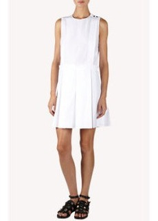 Proenza Schouler Poplin Sleeveless Pleat Skirt Shift