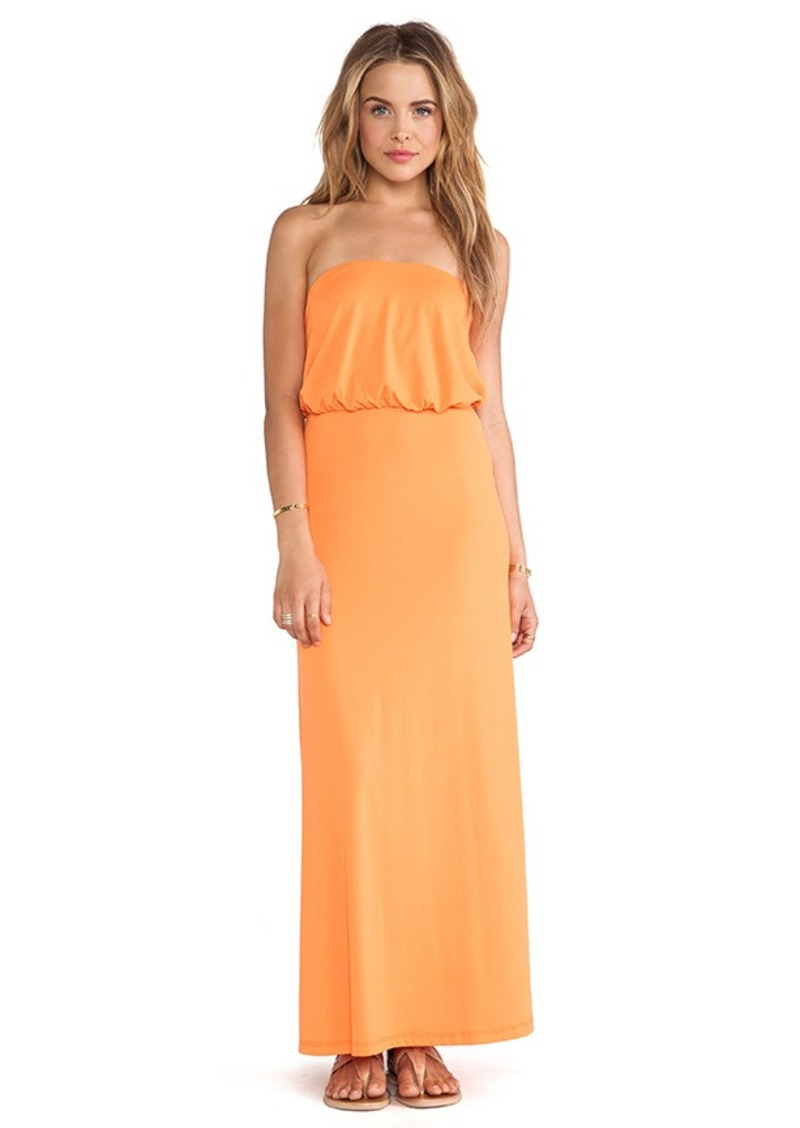 Susana Monaco Blouson Tube Dress in Orange