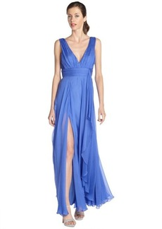 A.B.S. by Allen Schwartz ocean chiffon sleeveless empire waist gown