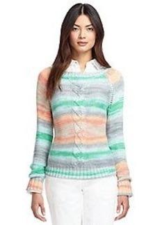 Multi Cable Crewneck Sweater