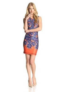 Cynthia Rowley Women's Floral-Bonded Sleeveless Dress