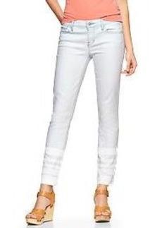 1969 stripe-hem always skinny skimmer jeans