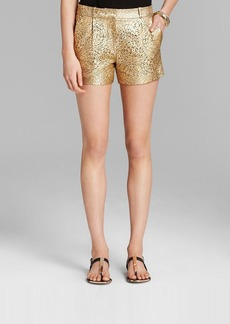 DIANE von FURSTENBERG Shorts - Naples Laser Cut Leather