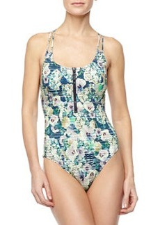 Nanette Lepore Hula Hibiscus Goddess One-Piece Swimsuit