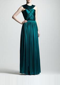 Lanvin Ruched Silk Gown