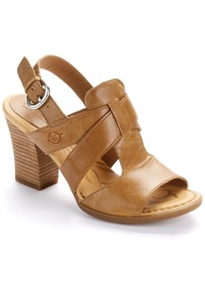 Born + Stacked Leather Sandals