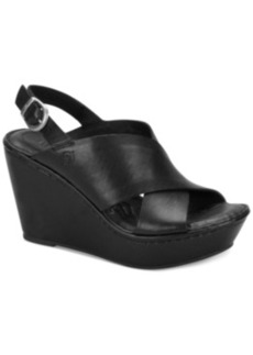 Born Emmy Platform Wedge Sandals Women's Shoes