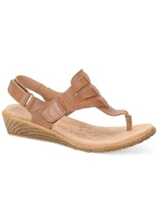 Born Karis Wedge Thong Sandals Women's Shoes