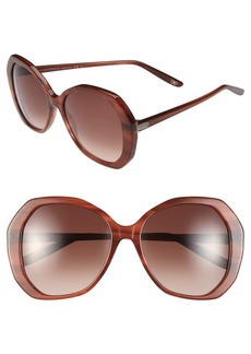 Bottega Veneta 56mm Retro Sunglasses