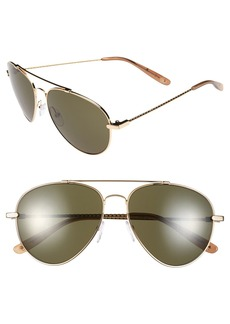Bottega Veneta 58mm Aviator Sunglasses