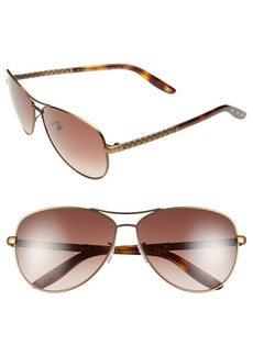 Bottega Veneta 61mm Special Fit Aviator Sunglasses