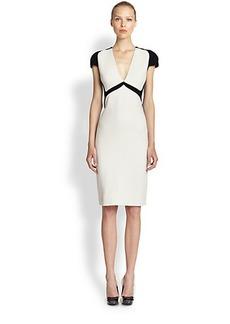 Bottega Veneta Bi-Color Wool Crepe Dress
