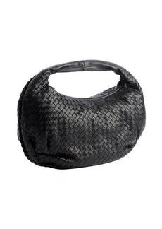 Bottega Veneta black intrecciato leather 'Belly Veneta' hobo