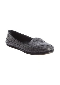 Bottega Veneta black intrecciato leather loafers