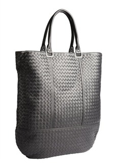 Bottega Veneta black intrecciato leather shopper tote