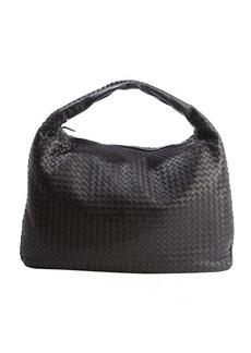 Bottega Veneta black leather intrecciato shoulder bag