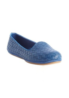 Bottega Veneta blue intrecciato leather loafers