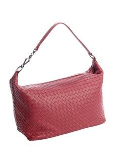 Bottega Veneta brick red intrecciato leather top zip shoulder bag