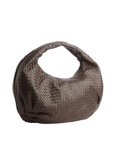 Bottega Veneta brown intrecciato leather 'Belly Veneta' hobo