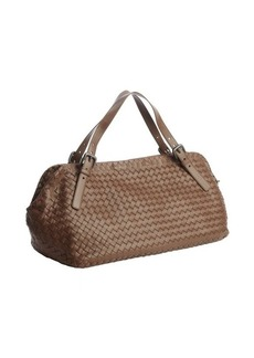 Bottega Veneta brown intrecciato leather hobo