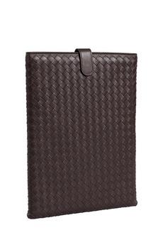 Bottega Veneta brown intrecciato leather iPad case
