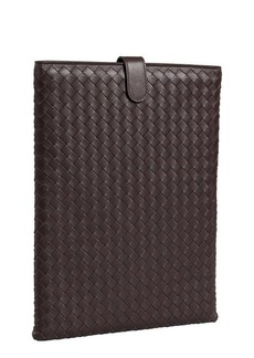 Bottega Veneta brown intrecciato leather iPad case