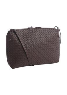 Bottega Veneta brown intrecciato leather side zip shoulder strap bag