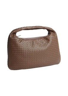 Bottega Veneta brown intrecciato leather 'Veneta' large hobo