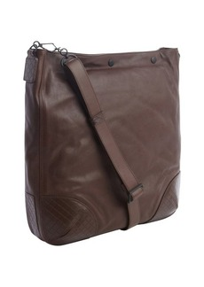 Bottega Veneta brown leather snap top large shoulder bag