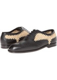 Bottega Veneta Brunissable Straw Lace Up