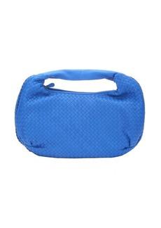 Bottega Veneta burnished signal blue intrecciato leather 'Belly Veneta' hobo