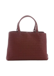 Bottega Veneta burnt red intrecciato leather 'Milano' medium tote bag
