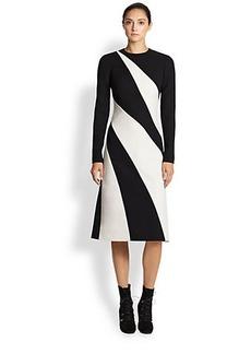 Bottega Veneta Compact Tech Bi-Color Dress