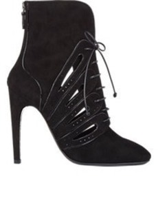Bottega Veneta Cutout Back-Zip Ankle Booties