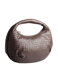 Bottega Veneta dark brown intrecciato leather 'Belly Veneta' hobo