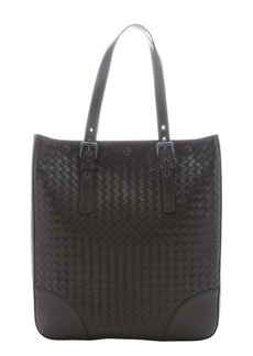 Bottega Veneta dark brown intrecciato leather large tote bag