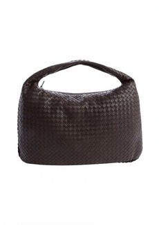 Bottega Veneta dark brown intrecciato leather 'Veneta' large hobo